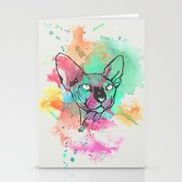 Watercolor Sphynx Stationery Cards