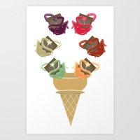 Chocolate Rippleboat Sun… Art Print