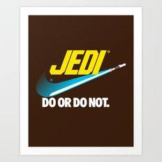Brand Wars: Jedi - blue lightsaber Art Print