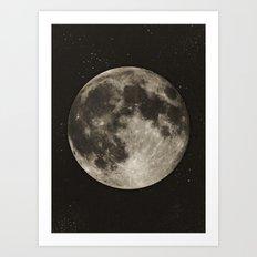 The Moon  [Sans Type] Art Print