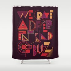 A Different Buzz Shower Curtain