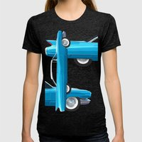 60's Well Finned Caddy I… Womens Fitted Tee Tri-Black SMALL