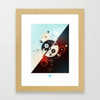 Ying-Yang Blue Version Framed Art Print