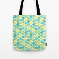 Tote Bag featuring Summer Time Honeycomb by Wild Notions