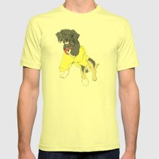 Luck Dragon Mens Fitted Tee Lemon SMALL