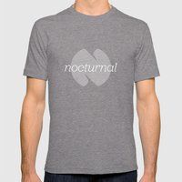 Nocturnal Mens Fitted Tee Tri-Grey SMALL