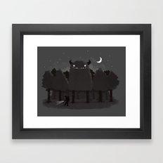 Monster Hunting Framed Art Print