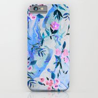 iPhone & iPod Case featuring Floral Marble Swirl by Nikkistrange