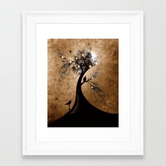 Raven christmas II - HOLIDAZE Framed Art Print