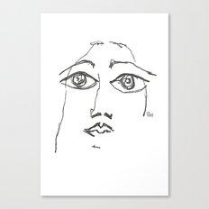 Woman gazing Canvas Print