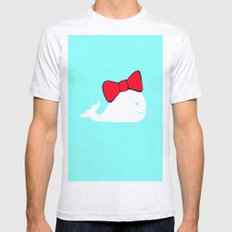 whale Mens Fitted Tee Ash Grey SMALL