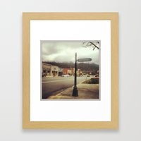 Town Square Framed Art Print