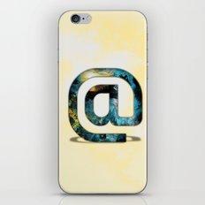 At Sign {@} Series - Silom Typeface iPhone & iPod Skin