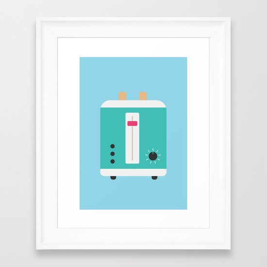 #82 Toaster Framed Art Print