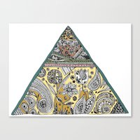 Triangle - Neutral Canvas Print