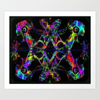Let The Music GLOW Art Print