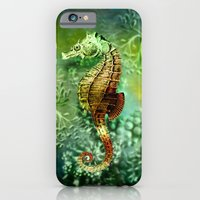 iPhone & iPod Case featuring Seahorse Tropical Ocean Life by TDSWHITE