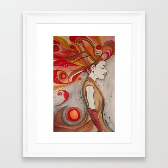 Elemental Couture: Zephyrienne Framed Art Print
