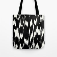 Ikat: Black Ivory Tote Bag