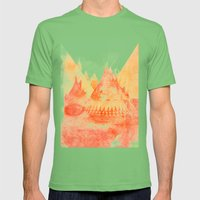 APACHE Mens Fitted Tee Grass SMALL