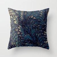 DARK BLUE Throw Pillow
