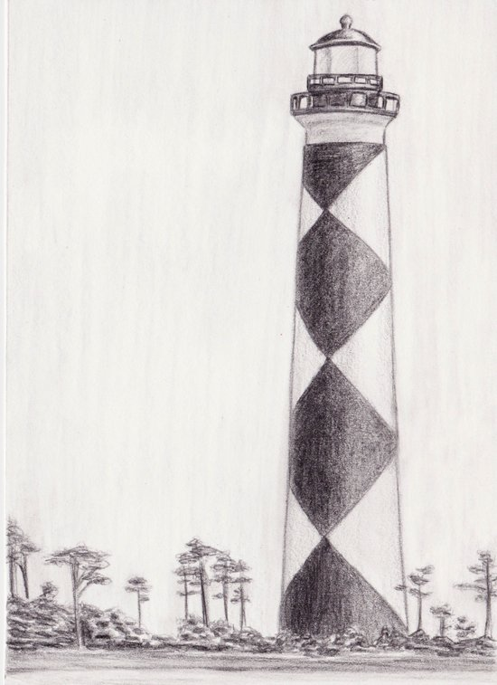 Cape Lookout Lighthouse Art Print