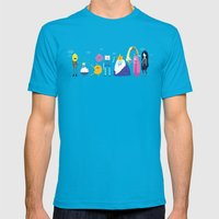 Adventure time characters Mens Fitted Tee Teal SMALL