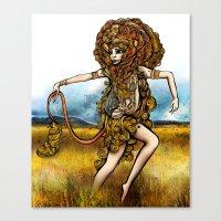 Astrology Illustration S… Canvas Print