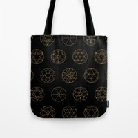 Geocircles (Golden) Tote Bag