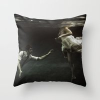 abyss of the disheartened : X Throw Pillow