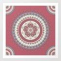 Mandala Paisley - Love Art Print