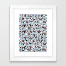 Cute Penguins Framed Art Print