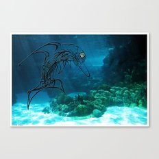Tribal robot Dolphin :) Canvas Print
