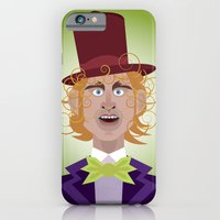 iPhone & iPod Case featuring Willy Wonka from Charlie and the chocolate factory, played by the great Gene Wilder by Joe Pugilist Design