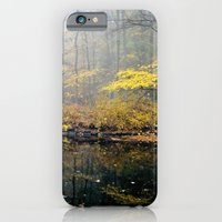iPhone & iPod Case featuring mist on the river by Mary Carroll