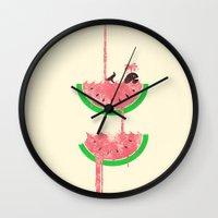 Watermelon Falls Wall Clock