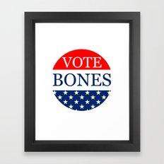 Temperance Brennan For President 2016 Framed Art Print