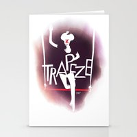 Circus - Trapeze Stationery Cards
