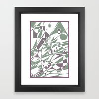 The Summit Afterglow Framed Art Print