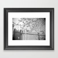 Fading Framed Art Print