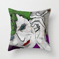 David Bowie as The Joker Throw Pillow