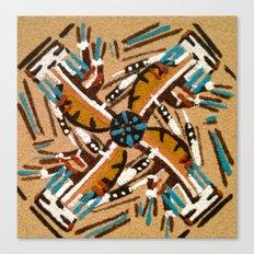 Indian Windmill design Canvas Print