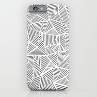 iPhone & iPod Case featuring Abstraction Linear Inverted by Project M