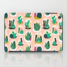 Terrariums - Cute little planters for succulents in repeat pattern by Andrea Lauren iPad Case