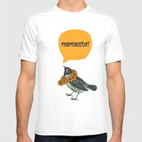 Namaste! Mens Fitted Tee White SMALL