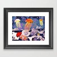 Monterey Jellies Framed Art Print