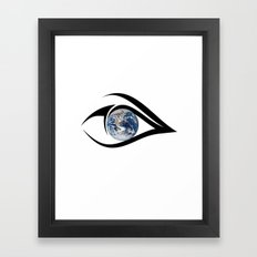 The planet on which we live can see everything Framed Art Print