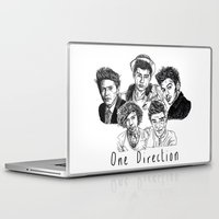 one direction Laptop & iPad Skins featuring One Direction by Hollie B