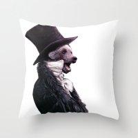 Unbearable gentleman Throw Pillow