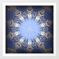 Polished Stone Metal Element Mandala Art Print